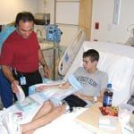 """Dr Boyer & Eric in hospital for """"Tune-up"""""""
