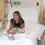 My Jena...always smiling even in the hospital!